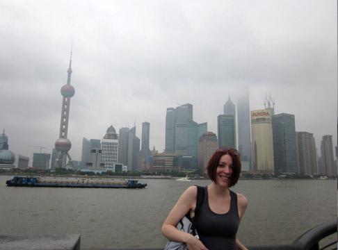Shanghai China Travel: Standing Near the Bund