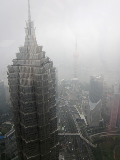 Train Trip to Shanghai: The View from the Park Hyatt Bar in Pudong