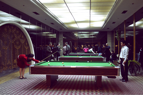 Playing pool in North Korea: the Yanggakdo Hotel